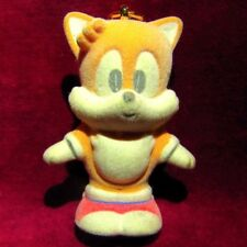 SEGA SONIC THE HEDGEHOG TAILS FLOCKED FURRY JAPANESE FIGURES KEYCHAIN CHIBI UFO