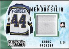 ET)2016-17 ITG Heroes and Prospects Heroes Jersey  Emerald Chris Pronger #2/10