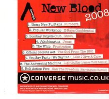 (FP950) Artrocker New Blood 2008, 9 tracks various artists - CD