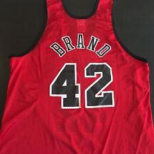 Elton Brand Chicago Bulls Jersey L Mens 42 Red Sleeveless NBA Hanes Mesh Shirt