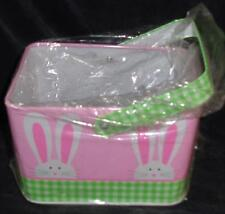 Cute Little Tin Easter Gift Basket - BRAND NEW - SUPER CUTE BUNNY PATTERN