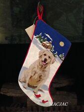 Yellow Lab/Labrador Retriever Dog Needlepoint Christmas Stocking NWT