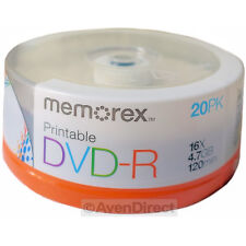 80 New Memorex 16X White Inkjet Printable 4.7GB DVD-R [FREE USPS Priority Mail]