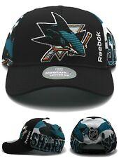 San Jose Sharks New Reebok Playoffs Center Ice Black Teal Era Snapback Hat Cap