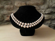 Pearl Silver Necklace Vintage Costume Jewellery (1950s)