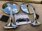 NEW SET 37 39 48 54 4 INCH ROUND RIGHT AND LEFT VINTAGE STYLE SIDE VIEW MIRRORS  for sale