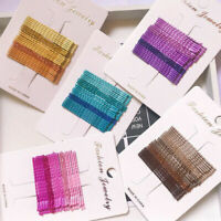 24pcs/set Candy Color Hair Clips Bobby Pins Wavy Hairpins Barrettes Jewelry