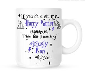 Harry Potter References White Ceramic Novelty Joke Mug Tea Coffee Cup