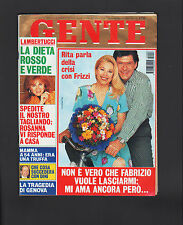 GENTE 6/1995 MOANA POZZI ZECCHINO D'ORO IRADUKUNDA WERMULLER FABIO FAZIO STING