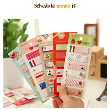 Kawaii Korean sticker post-it bookmark point it Schedule memo flags sticky notes