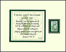 ST012 - GOLFING VERSE with BOBBY JONES STAMP