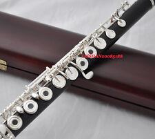 Professional Grendadilla wooden Flute B Foot Offset G, Split E with wood case