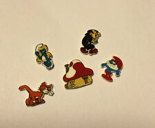 5 SMURF FLOATING LOCKET CHARMS SMURFETTE GARGOYLE PAPA CAT MUSHROOM HOME SMURF