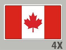 4 Canada Canadian stickers flag decal bumper car bike emblem vinyl FL011