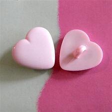 20 Heart Shape Kid Craft Sewing Buttons 16mm Pink K232