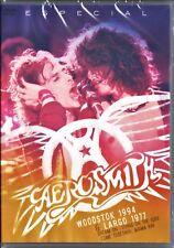 DVD    AEROSMITH  2 SHOWS   WOODSTOCK 1994 / LARGO 1977     NEW & SEALED