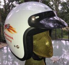 eeeff8b5 Cyber U-4 Terminator White Helmet w Visor sz S Made 2001 Owner Applied  Stickers