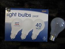 12 x RING 40W PEARL E27 ES Light Bulb Lamp Standard GLS Dimmable Job Lot