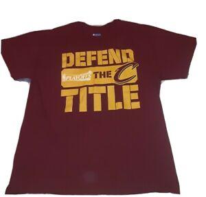 Cleveland Cavaliers Defend The Title XL 46 x 28 T Shirt NBA Playoffs 100% Cotton