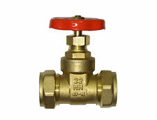 22mm Gate Valve | Brass Valve With Red Handle | CxC Compression