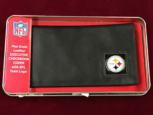Leather Pittsburgh Steelers Siskiyou Checkbook Holder in Case (SC8)
