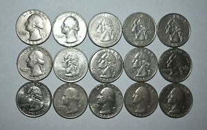 V23. LOT OF 15 PRE-OWNED MAGIC COINS / MAGNETIC QUARTERS / FOR MAGIC TRICKS