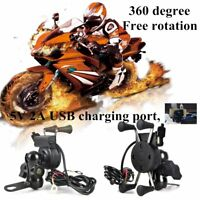 RAM Motorcycle Bike Car Mount Cellphone Holder USB Charger For Phone WE