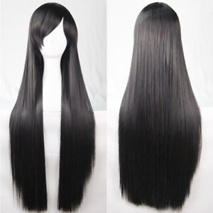 Full Long 80cm Straight Hair Wigs Lady Cosplay Costume Party Long Straight Wig