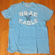 American Eagle Blue White Tshirt Size M Abercrombie Hollister Aeropostale