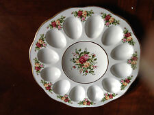 ROYAL ALBERT OLD COUNTRY ROSES CHINA DEVILED EGG DISH