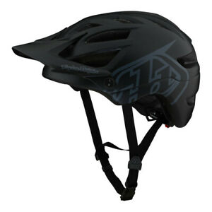 TLD Troy Lee Designs A1 Drone Black Mountain Bike Helmet Bicycle XC