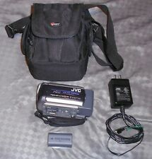 JVC Everio GZ-MG155U 30GB Hybrid Camcorder + Power Cord, Extra Battery, and Bag