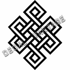 Eternal Knot Vinyl Sticker Decal Buddhist Karma Buddha - Choose Size & Color