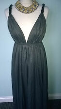 extra light oiled soft cotton fabric evening dress with pu straps size 12