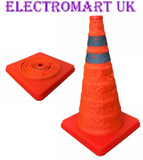 POP UP REFLECTIVE COLLAPSIBLE SAFETY TRAFFIC WARNING CONE CAR CARAVAN MOTORHOME