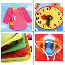 Baby 3D Quiet Book Soft Touch Non-Toxic Cloth Books Early Educational Toy