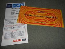 1969 FORD FAIRLANE, TORINO, RANCHERO OWNER MANUAL + 69 WARRANTY FOLDER