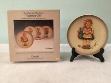 Hummel Goebel Valentine Gift First Edition Hum 738 Girl 1985 Collectors Plate