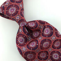 Ermenegildo Zegna Tie Red Silver Black Recent Necktie Luxury Silk Ties L4 New
