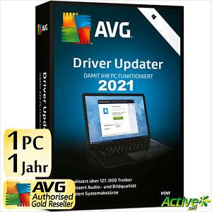 AVG Driver Updater 2021 1 PC 1 Jahr | VOLLVERSION / Upgrade | Treiber DE-Lizenz