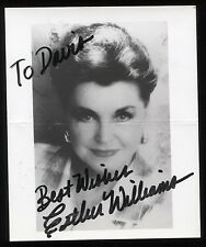 Esther Williams Signed Vintage Photo Autographed AUTO Signature