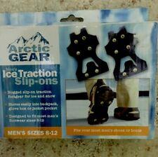 Ice Traction Slip-ons Men's Size 8-13 Rubber Overshoe Grips Steel Snow Cleats