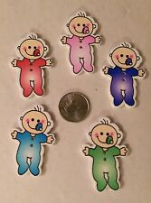 Lot of 5 HAPPY BABY 2-hole Wood Button 1-1/2