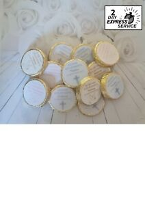 Set of 25 x personalised christening baptism communion chocolate favours