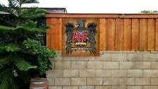 Pabst Blue Ribbon beer Slayer Heavy Metal band art sign banner poster