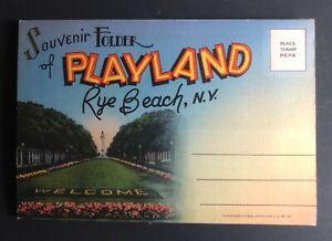 Playland Rye Beach Amusement Park New York - Folder Postcards - Complete Unused