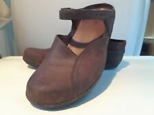 PATAGONIA Mary Jane Shoes Mules Brown Leather Women's Size 9.5