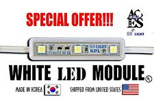 New 3 WHITE LED MODULE-KPL 100PCS/39FT 5cm 12V DC SS Light Korea