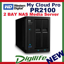 WD My Cloud PR2100 Pro Series 8TB 2 Bay NAS Storage Media Server