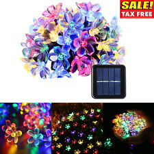 50 Solar Powered Garden Led Lights Blossom Flower Outdoor Lawn Patio Waterproof